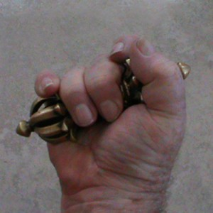 The blunt points of the vajra can be used to strike targets while blows from the fist, backhand or palm strike also can be enhanced by the weight of the vajra.